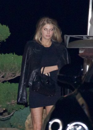 Charlotte McKinney - Leaving Nobu restaurant in Los Angeles