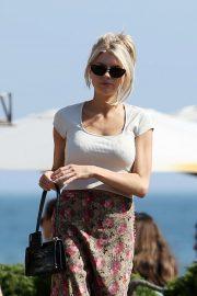 Charlotte McKinney - Leaving Nobu Restaurant in Malibu