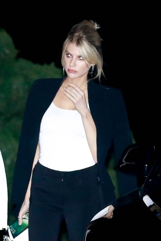 Charlotte McKinney - Night out at a restaurant in Malibu