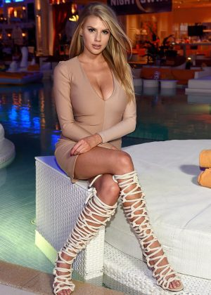 Charlotte McKinney - Night Swim at Encore Beach Club Grand Opening in Las Vegas