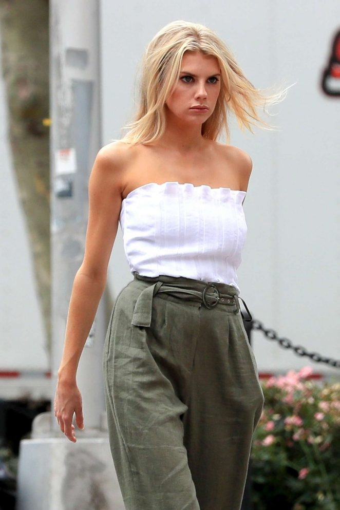 Charlotte McKinney - On set of a photoshoot in NYC