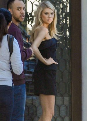 Charlotte McKinney - Photoshoot at Cecconi's in West Hollywood