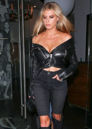 Charlotte McKinney - Seen Leaving Catch LA restaurant in West Hollywood
