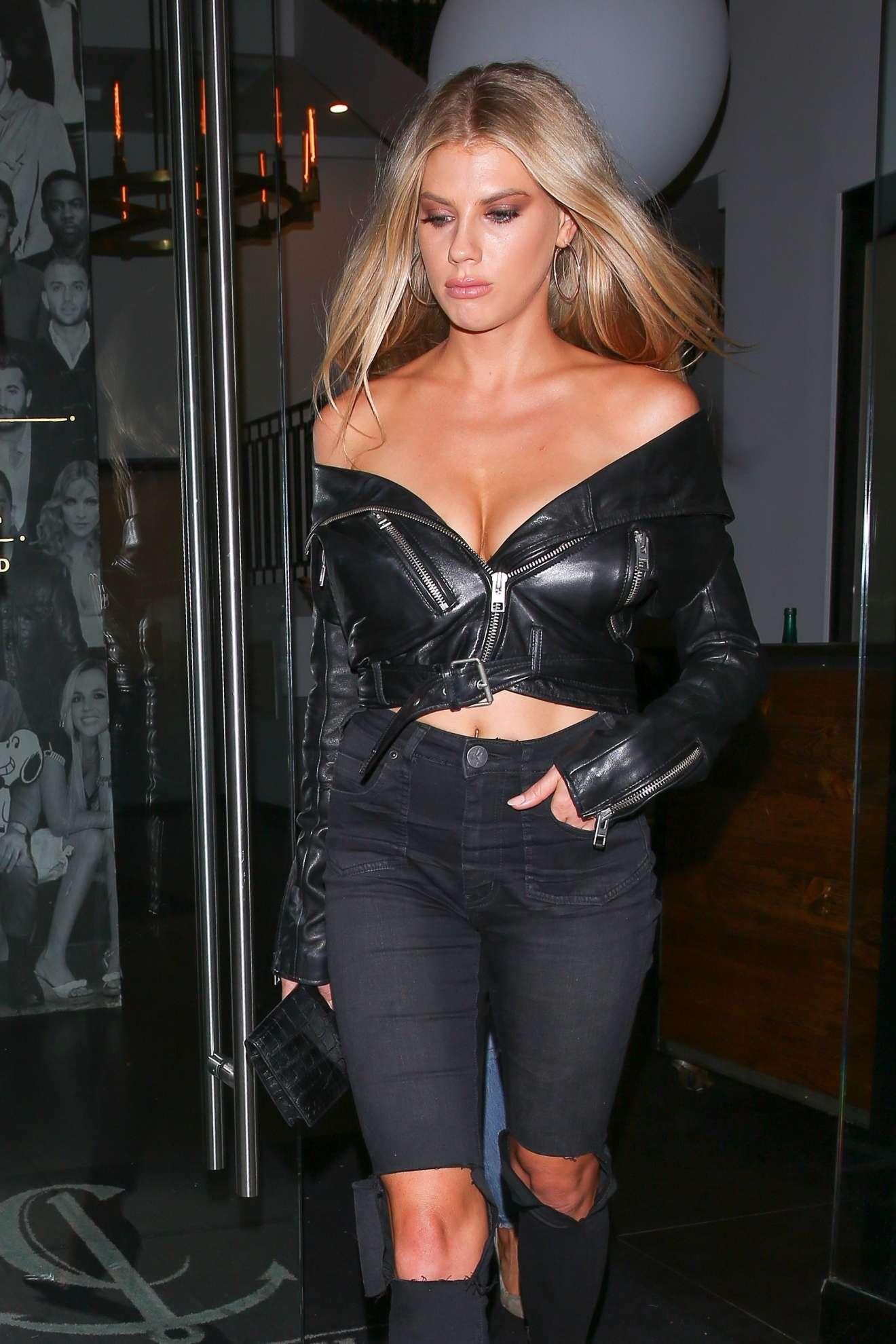 Charlotte McKinney - Seen Leaving Catch LA restaurant in West Hollywood