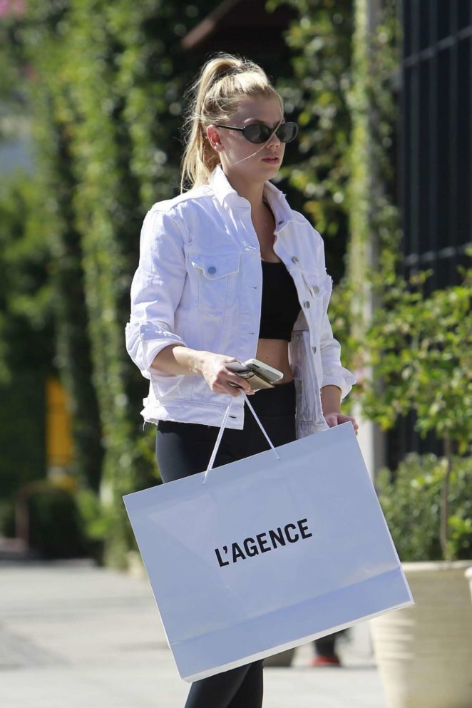 Charlotte Mckinney - Shopping at L'agence in West Hollywood