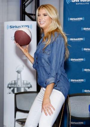 Charlotte McKinney - SiriusXM at Super Bowl XLIX Radio Row in Phoenix