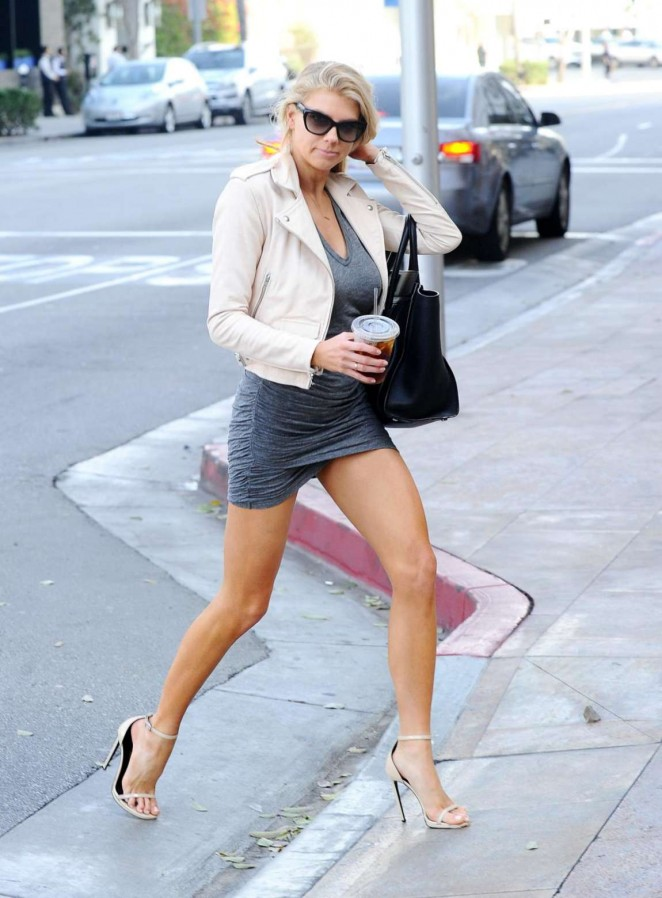 Charlotte McKinney in Tiny Dress out in LA