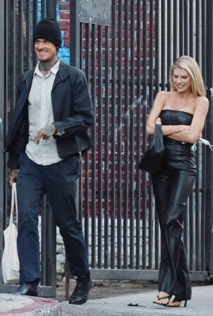 Charlotte McKinney - With boyfriend Nathan Kostechko head out on a date in Los Angeles