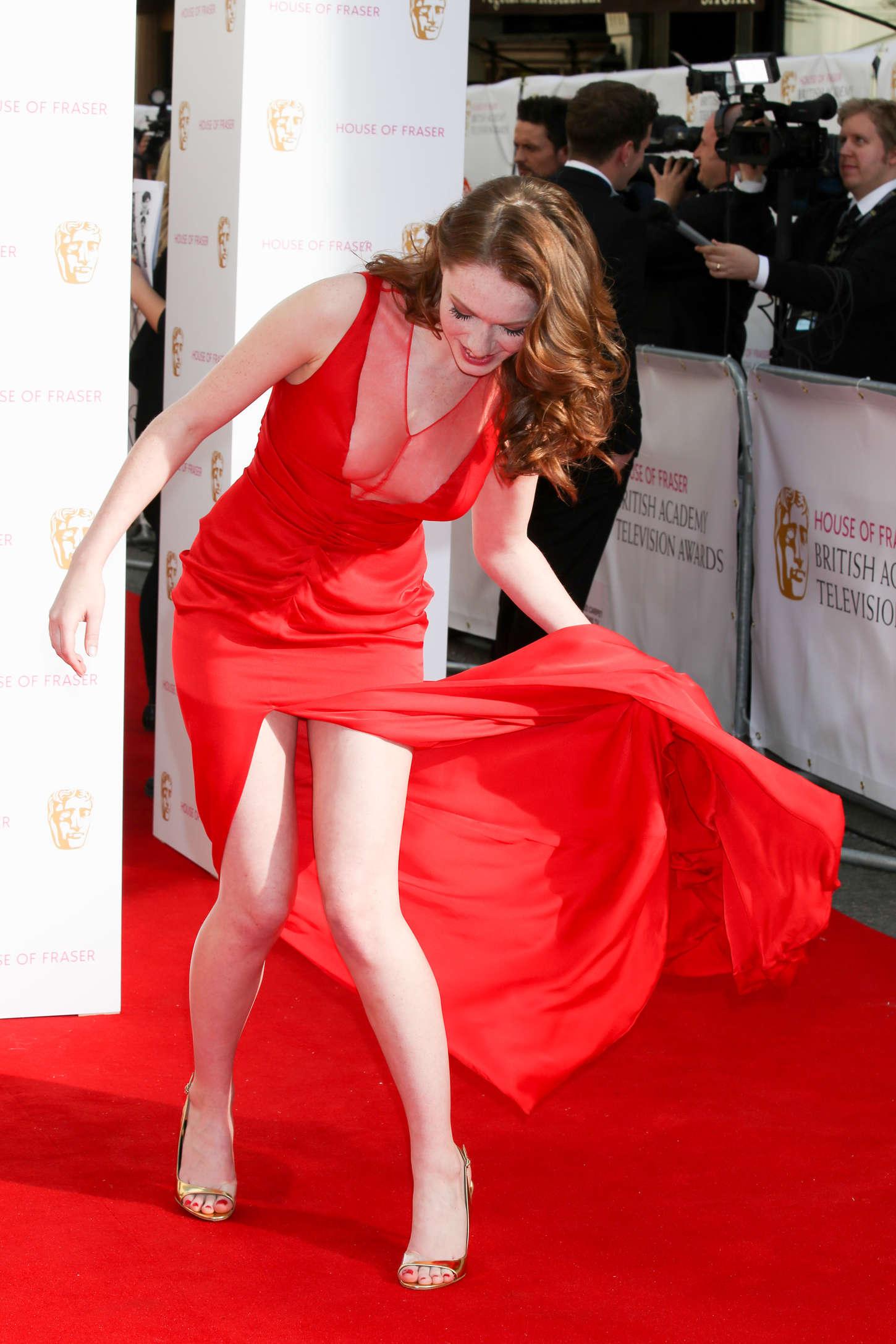 Charlotte Spencer Bafta Awards 2015 In London