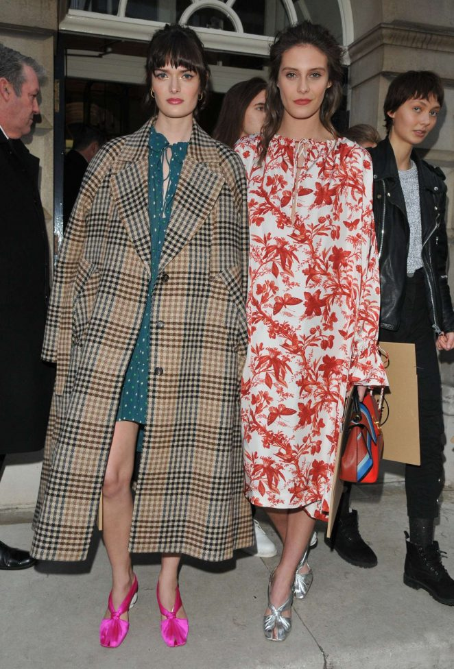 Charlotte Wiggins and Sam Rollinson - Arrives at Mulberry Show 2018 in London