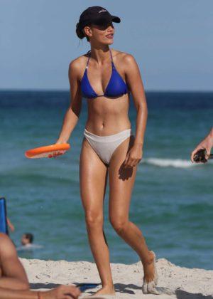 Chase Carter in Bikini at the beach in Miami