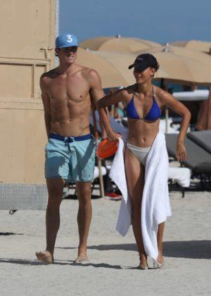 Chase Carter in Bikini at the beach in Miami Pic 7 of 35