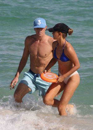 Chase Carter in Bikini at the beach in Miami Pic 5 of 35