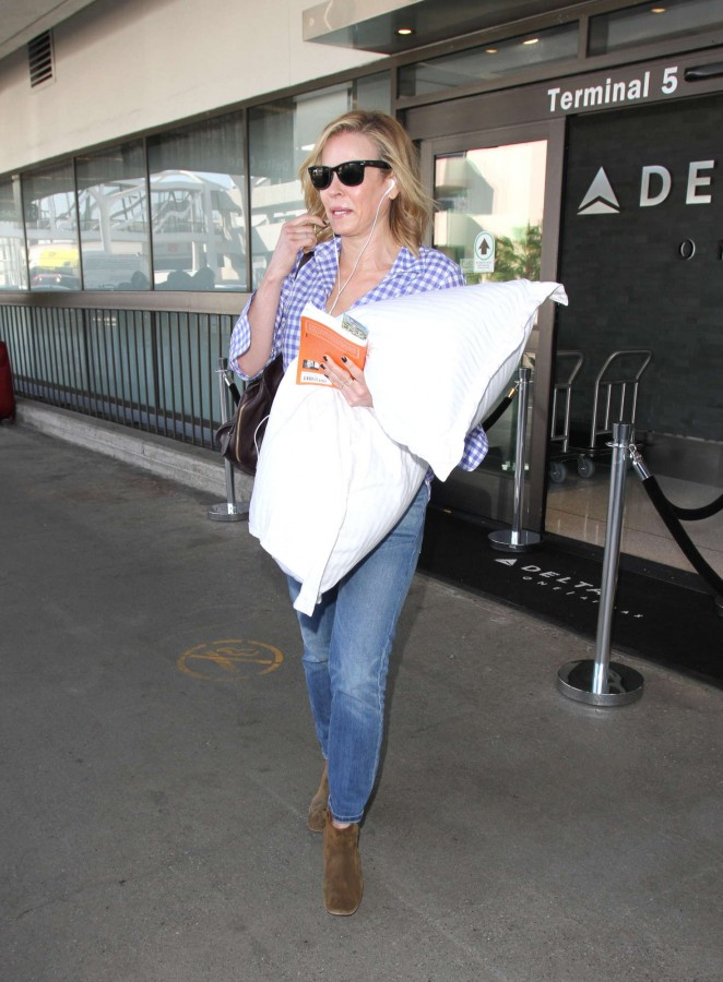 Chelsea Hander in Jeans at LAX Airport in Los Angeles