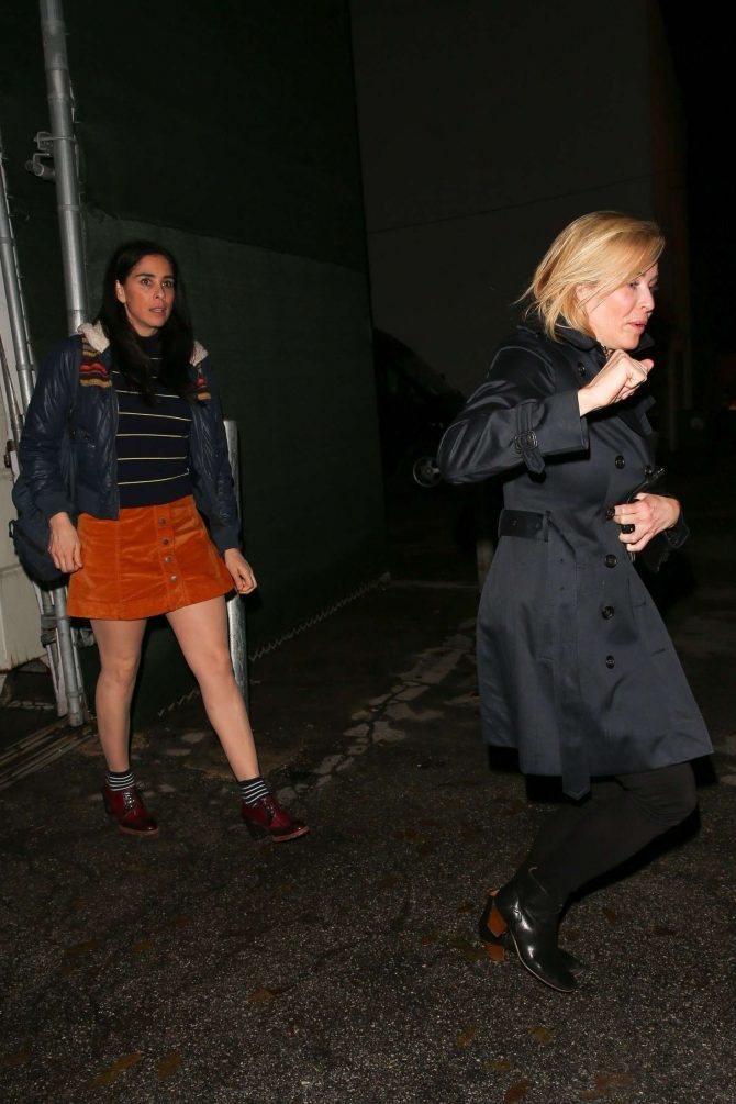 Chelsea Handler and Sarah Silverman – Leaving Craig's restaurant in West Hollywood