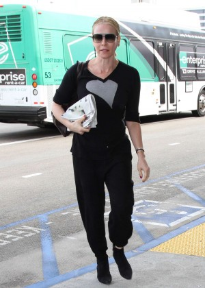 Chelsea Handler at LAX Airport in Los Angeles
