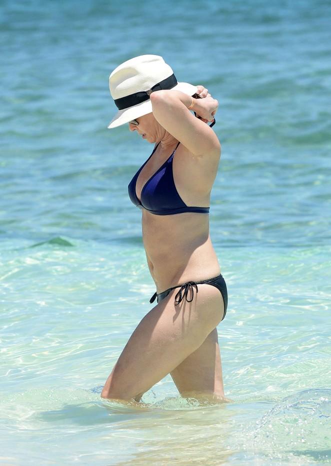 Chelsea Handler in Blue Bikini in Bahamas
