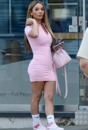 Chelsee Healey - Outside a post office in Manchester
