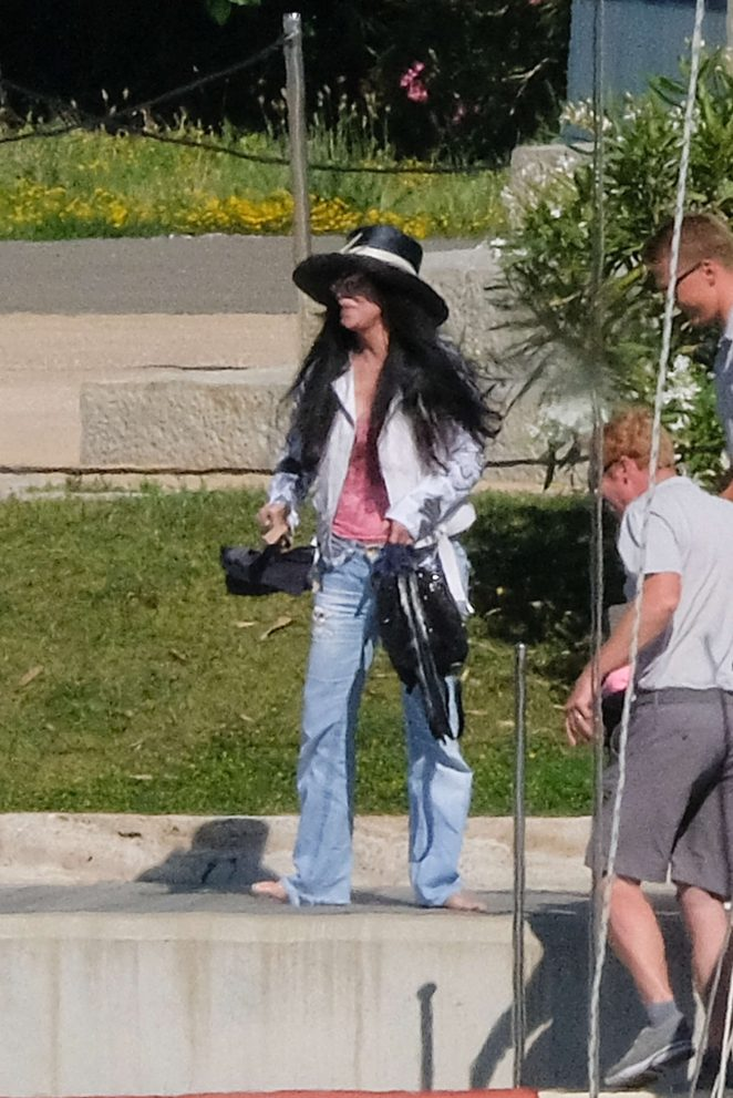 Cher on vacation in Italy