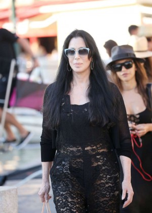 Cher out in Saint Tropez
