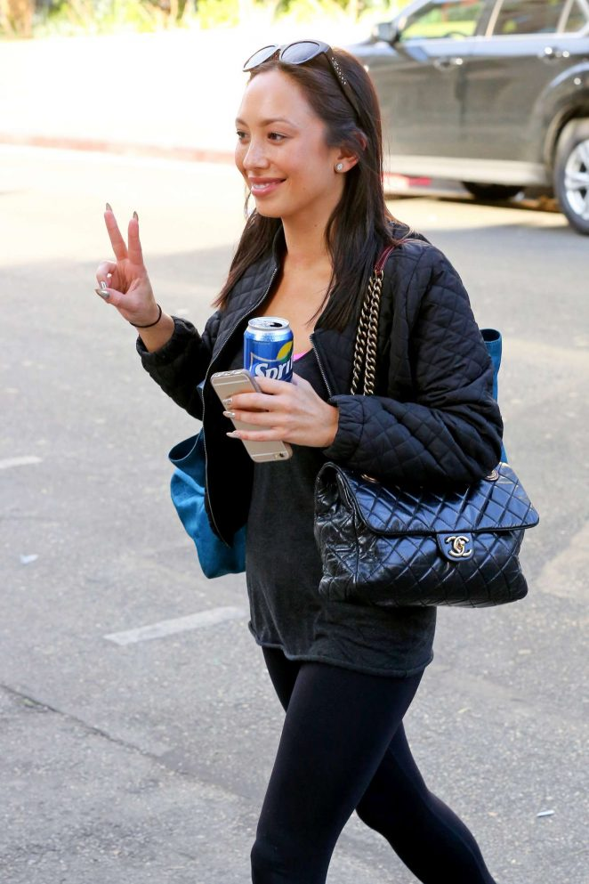 Cheryl Burke - Arrives at 'Dancing With The Stars' Rehearsals in LA