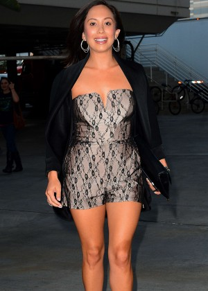 Cheryl Burke - Arriving at the Taylor Swift concert in LA