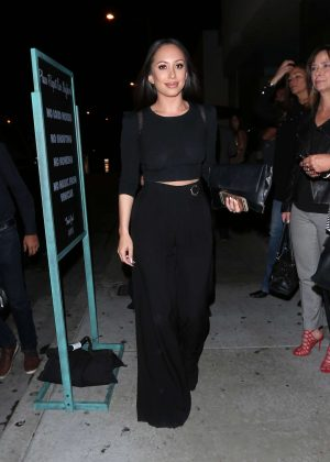 Cheryl Burke at Catch Restaurant in West Hollywood