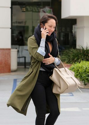 Cheryl Burke - Leaves Coffee Bean in LA