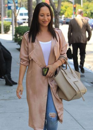 Cheryl Burke out for lunch at Wolfgang's Steakhouse in Beverly Hills