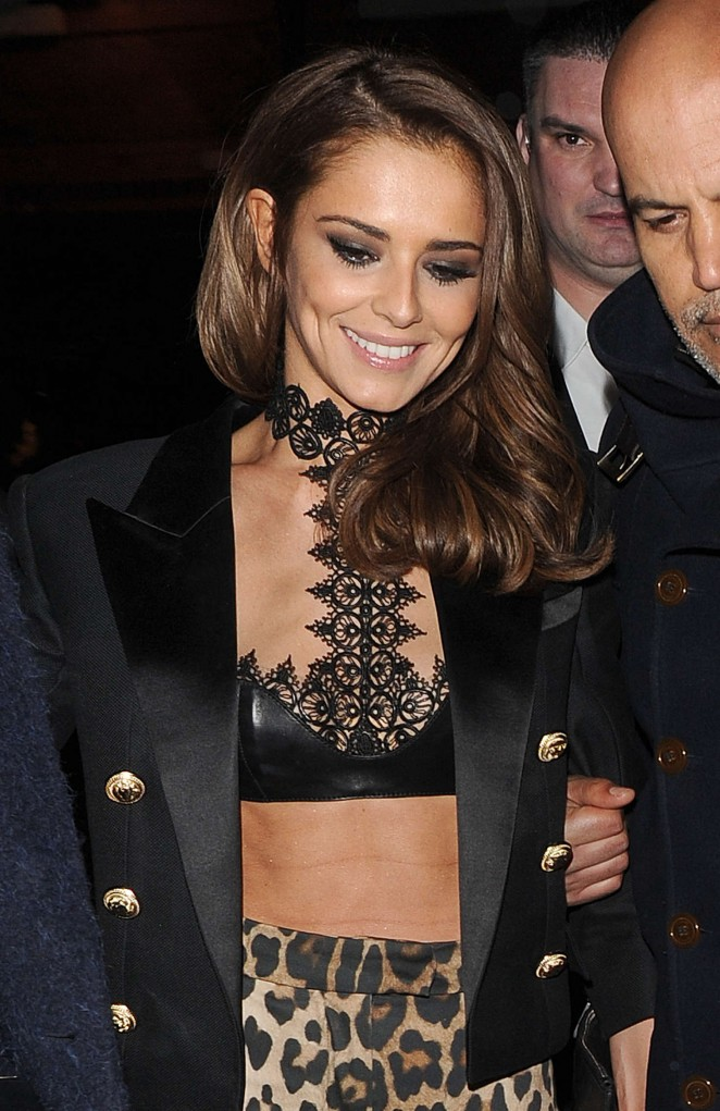 Cheryl Fernandez-Versini at Kimberley Walsh's hen party in London