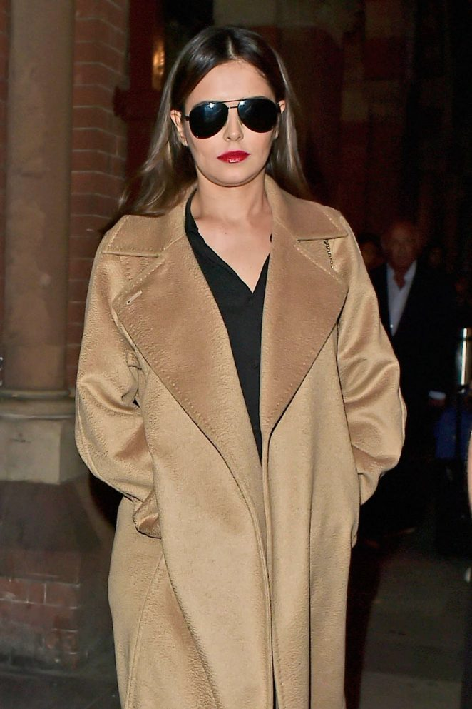 Cheryl Fernandez-Versini at Kings Cross St Pancreas Station in London