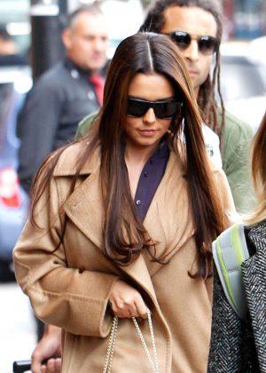 Cheryl Fernandez-Versini in Long Coat out in London