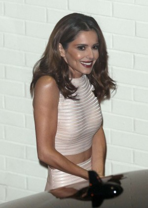 Cheryl Fernandez-Versini - Leaving X Factor Results Show in London