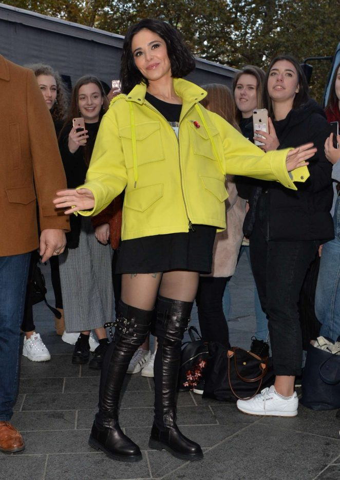 Cheryl Tweedy - Arrives at Capital FM in London