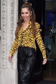 Cheryl Tweedy at Kiss FM Studios in London