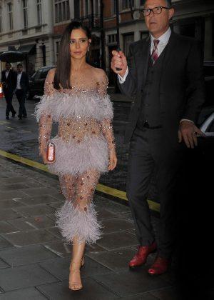 Cheryl Tweedy - Attending Friends Wedding at Claridges in London
