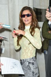 Cheryl Tweedy - Leaving BBC Radio 2 studios in London