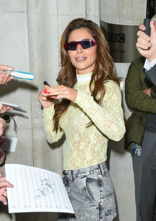 Cheryl Tweedy - Leaving BBC Radio 2 studios in London