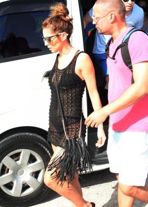 Cheryl Versini Fernandez in Black Mini Dress -08