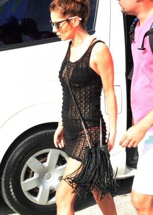 Cheryl Versini Fernandez in Black Mini Dress -09