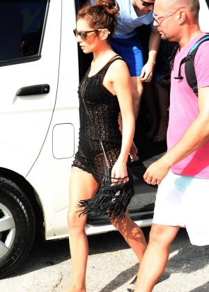 Cheryl Versini Fernandez in Black Mini Dress -11