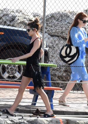Cheryl Versini Fernandez in Black Mini Dress -12