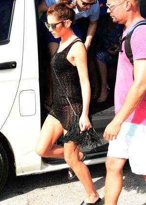 Cheryl Versini Fernandez in Black Mini Dress -15