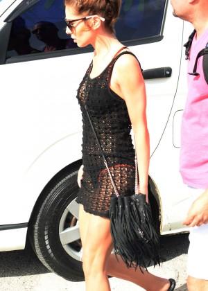 Cheryl Versini Fernandez in Black Mini Dress -16