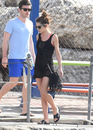 Cheryl Versini Fernandez in Black Mini Dress -18