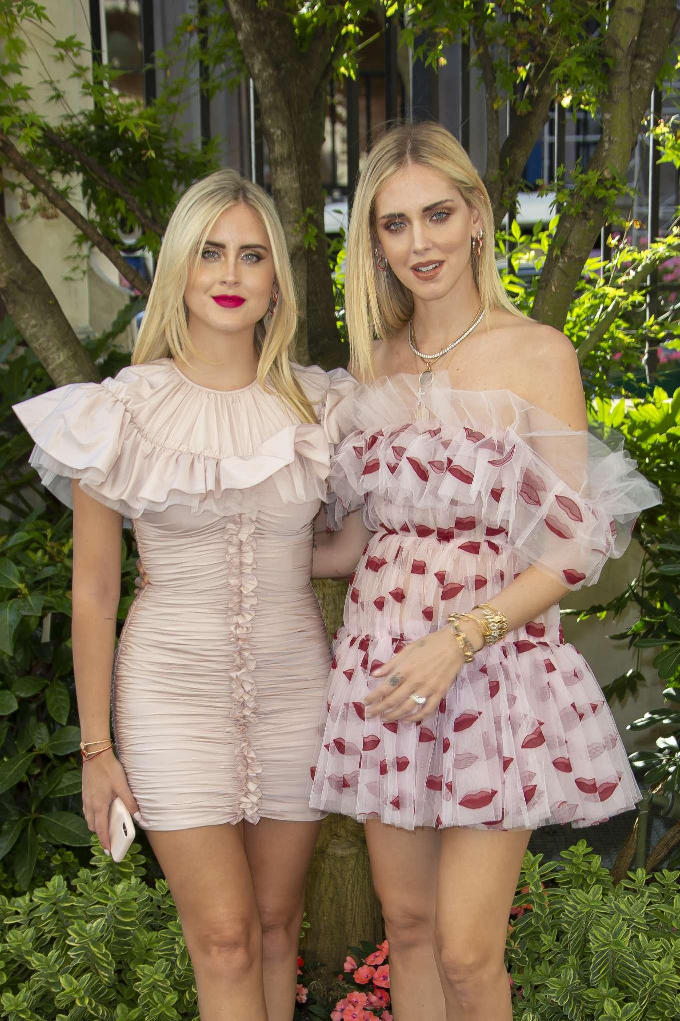 Chiara and Valentina Ferragni - 2019 Paris Fashion Week - Giambattista Valli Haute Couture FW 19-20