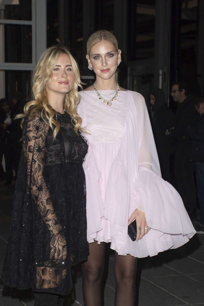 Chiara and Valentina Ferragni - Arrives at Giambattista Valli Haute Couture Show in Paris