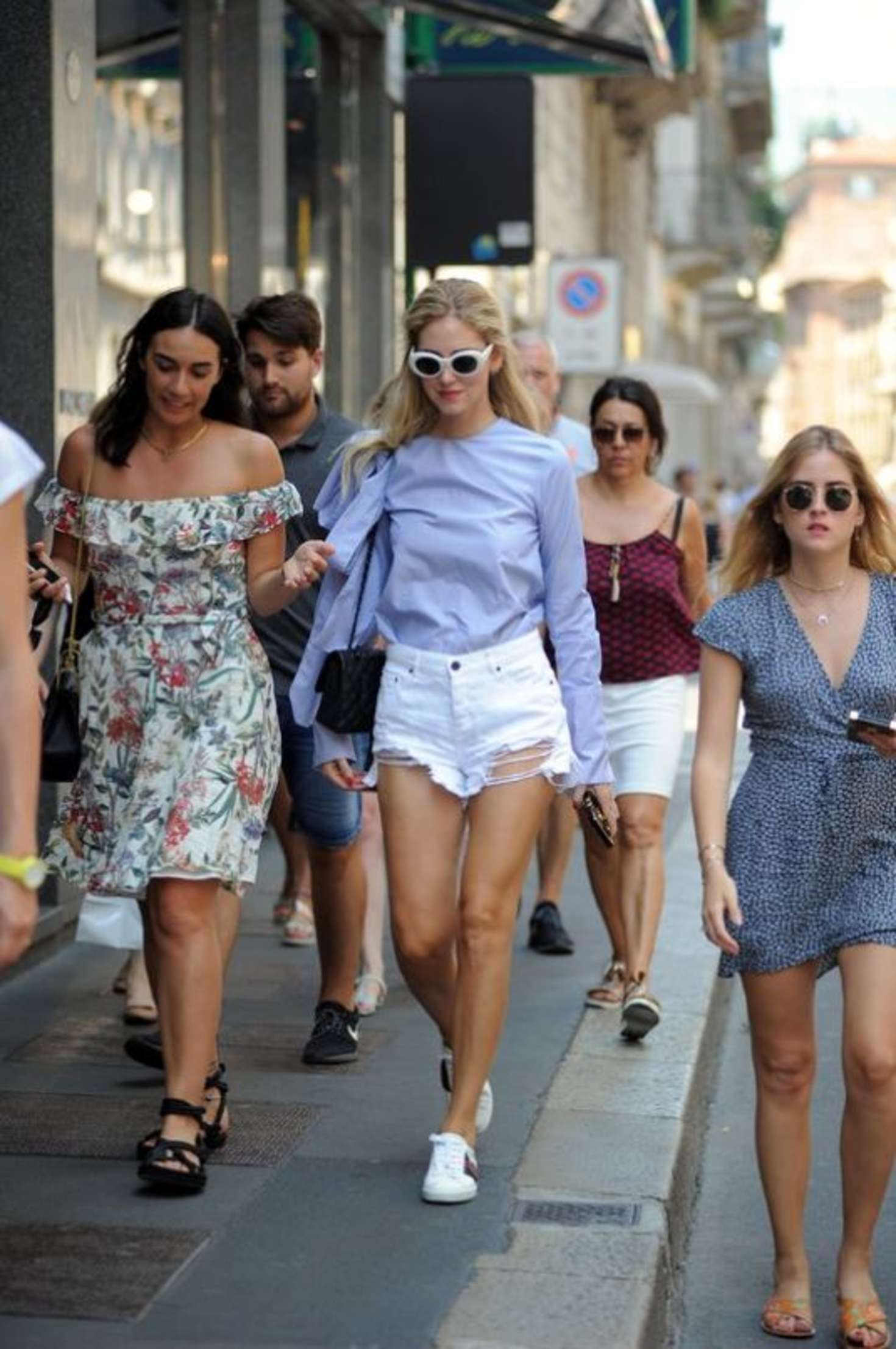 Chiara And Valentina Ferragni Out Shopping In Milan