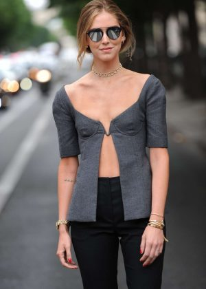 Chiara Ferragni - After the Christian Dior Show in Paris