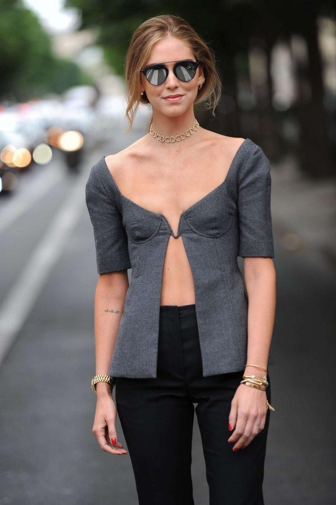 Chiara Ferragni - After the Christian Dior Show in Paris